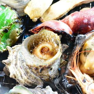 料理湘南で浜焼き!海鮮三昧!
