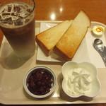 セルフリッチカフェ - 小倉トーストモーニングセット 450円