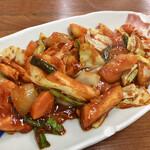 食堂ユリ - タッカルビ。鶏肉はムネ肉。