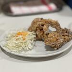 ラーメン モリン - 唐揚げセット(2個+ご飯小) 300円