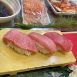 立喰 さくら寿司 - 本マグロ3点盛り合わせ(大トロ、中トロ、本鮪赤身)