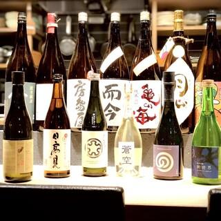 厳選した日本酒・焼酎・ワインも豊富に取り揃えています