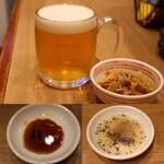 11点 - 生ビール・突き出し・餃子のタレ