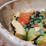さらさ西陣 - 塩こぶと豆腐とアボカドのウィーガン丼。これがおいしい!