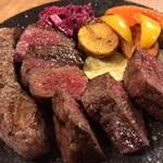 炭火焼赤身肉とクラフトビール ヴァベーネ - Va bene(あか牛 食べ比べプレート)