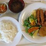 13556883 - ミックスフライランチ ご飯もとても美味しかったです