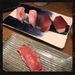 すし酒場 フジヤマ - ワラサ・赤身・肉寿司