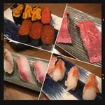すし酒場 フジヤマ - うに・明太子・いくら・肉寿司・さば・いなだ・赤エビ