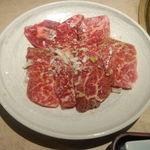狐狸庵家庭料理 ナルゲ - 焼肉定食の肉(カルビ)