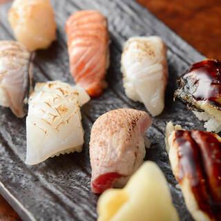【炙り寿司】香ばしさと、とろける口溶け