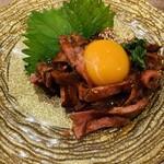 肉バルガッチャ - ローストビーフユッケ