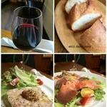 abill - ワイン、バケット、前菜