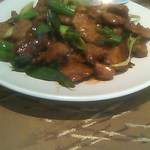 13558999 - 牛肉と九条ねぎの炒め