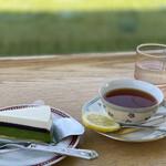 喫茶モンマルトル - 抹茶チーズケーキセット✨お得なチケット使用❣️