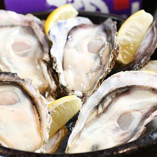 広島名物がたっぷりと乗った生牡蠣、がんすなどの逸品もおすすめ
