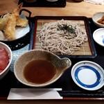 横濱屋本舗食堂 - 料理写真:天ざる、まぐろ丼セット