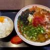 麺一 - 料理写真:でんがく(牛胃袋4種)ホルモンラーメンとライス