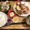フルカワ食堂 - 料理写真:モツ炒め&唐揚げ定食