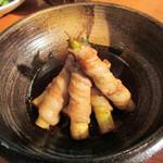 13561486 - 姫竹の豚肉巻煮