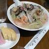 居魚家 たぬき - 料理写真:「ちゃんぽん(750円)+お通し(200円)」[令和2年8月26日(水)]
