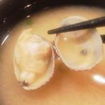 鮨金 - あさり汁