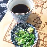 わらべ - 薬味とそばつゆ