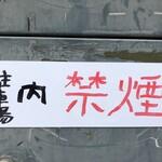 アートカフェ栄 - 駐車場内は「禁煙」です