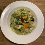 中華バルSAISAI。 - 紋甲イカと夏野菜の中華風クリーム煮