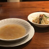 Kerunyoshimoto - 料理写真:セットのスープとサラダ
