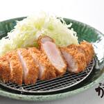 富山豚食堂 かつたま - 料理写真:厚切りロースかつ