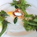 13565465 - 前菜:魚介と夏野菜のサラダ