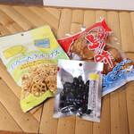 ベイリゾートホテル小豆島 売店 - 料理写真:島の味、れんこん天チップス、 備長炭カシューナッツ