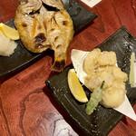 Hachimaru - のどぐろの塩焼き、河豚の天ぷら