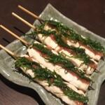 焼鳥ひじり - 料理写真:梅しそ串