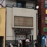 鳥喜多 - 店の前のガードマンがいい仕事する