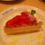 マノス カフェ - イチゴのチーズケーキ
