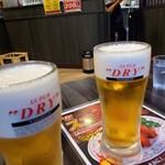 餃子の王将 - 単品生ビールと生ビールセット