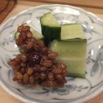 すし おおの - 胡瓜を金山寺味噌で