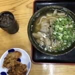 立喰い生麺 - 料理写真:唐揚げ&鶏ごぼううどん