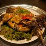 百濟 - 2012.6 漢方カンジャンケジャン(2人前2匹5,960円)生の渡り蟹を醤油漬にしています