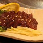 百濟 - 2012.6 牛レバ刺し(1,050円)合法的に食べられるのは今月(2012年6月)で最後です
