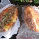焼きたてパン ロッキー - 料理写真:カレーパンとソーセージパン。生地がもちもちでおいしかった