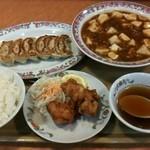 餃子の王将 - 料理写真:オリジナルセット(マーボドーフ)