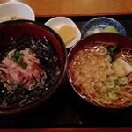 いちばん亭 - 料理写真:ネギトロ丼とそばのセット