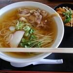 のむぎ - 料理写真:肉うどん(冷)+鶏皮焼肉たれ味丼
