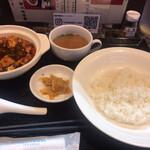 天府之國 - 料理写真:麻婆豆腐セット 辛さ普通