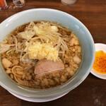 らーめん 玄 - 小の小ラーメン 麺半分ヤサイ少なめニンニクラー油で 650円