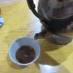 蓮玉庵 - 蕎麦湯を注ぐ