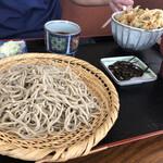 叶家 - 料理写真:ザルと天丼セット