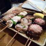 13572096 - 豚紫蘇巻き・椎茸肉詰め・しし唐はさみ